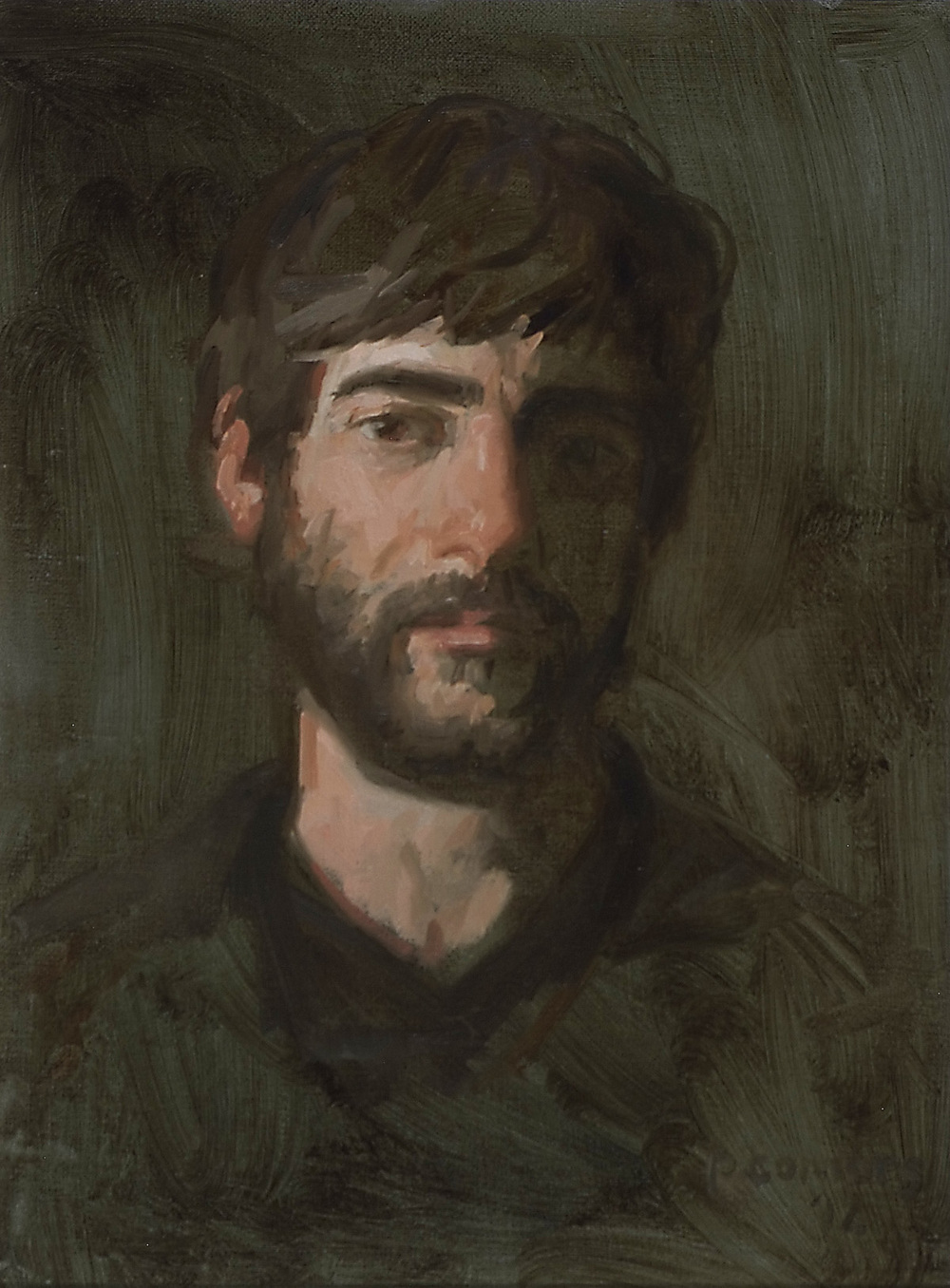 Portrait of F. S., 15 x 13 inches, oil on linen