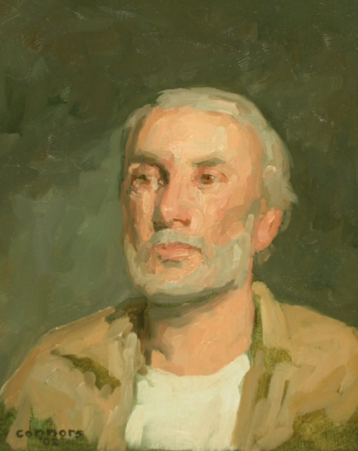 Portrait of C.L., 13 x 15 inches, oil on linen