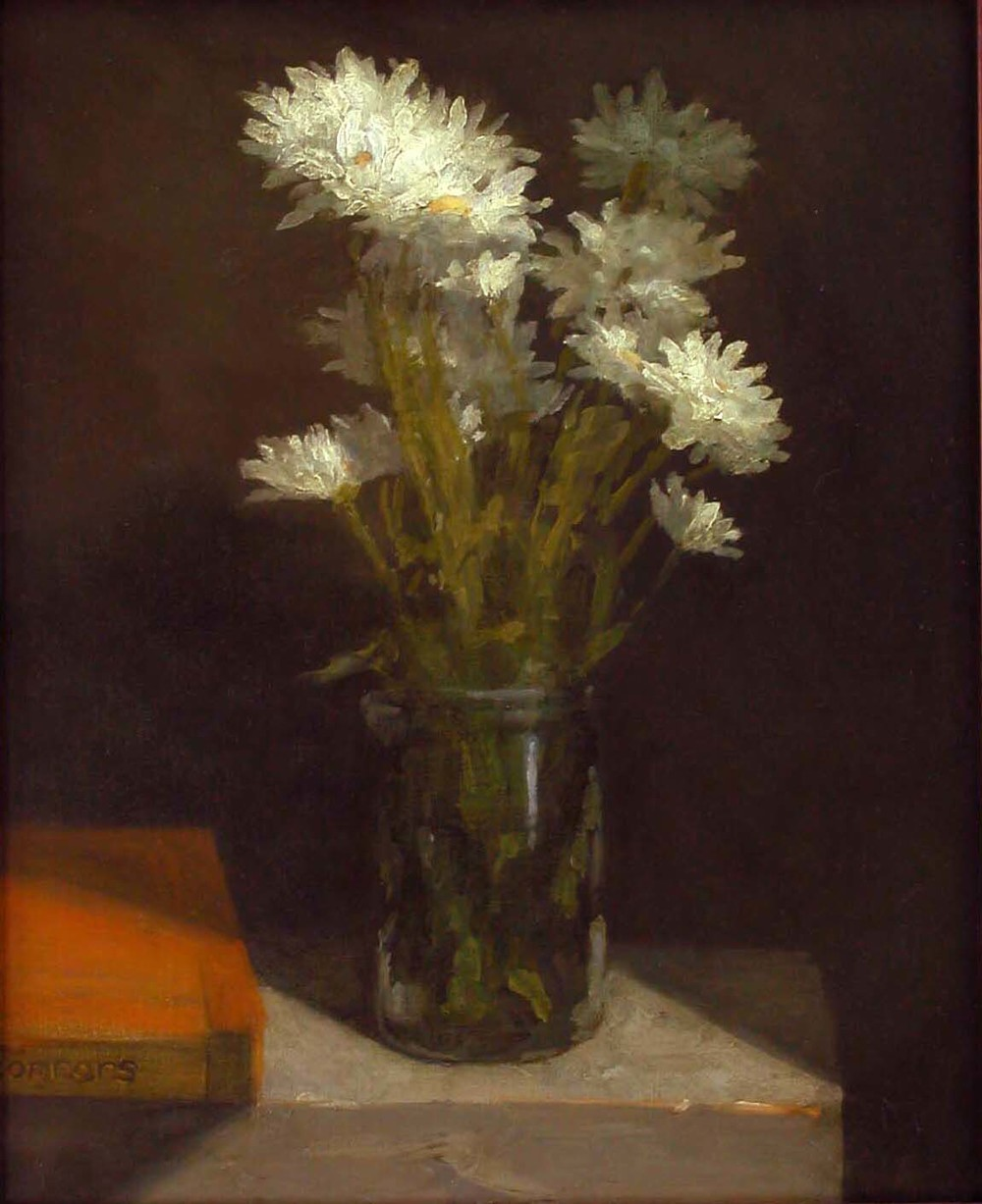 Daisies, 12 x 15 inches, oil on linen