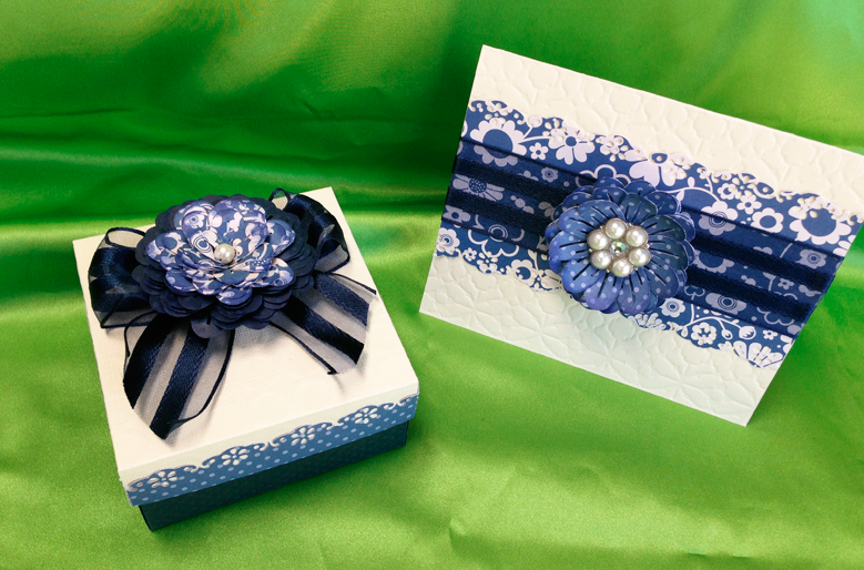 Blue Box & Card Design -  May 2013