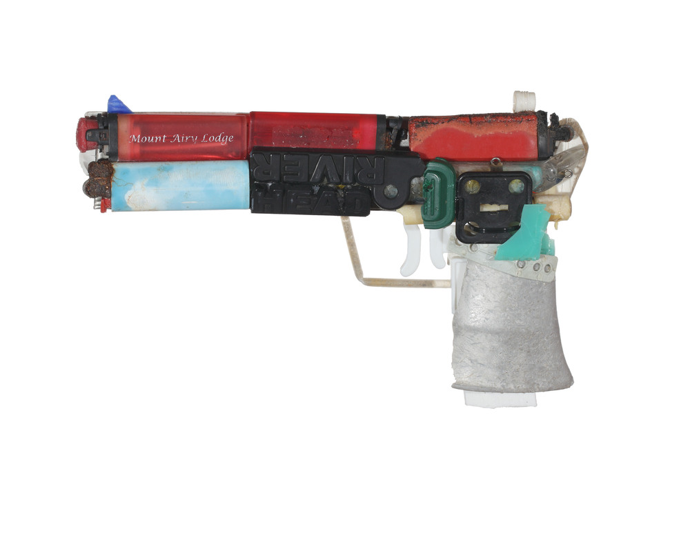 Glock Made From Hurricane Sandy Beach Trash 2.jpg