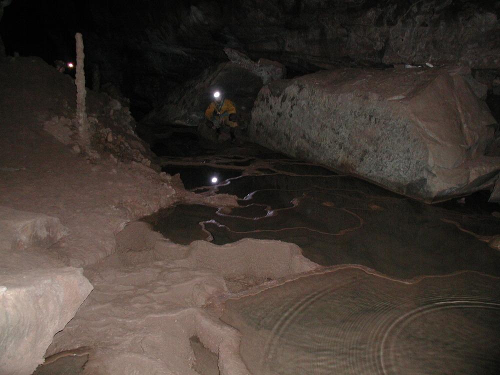 Rimstone. Cass Cave, WVa