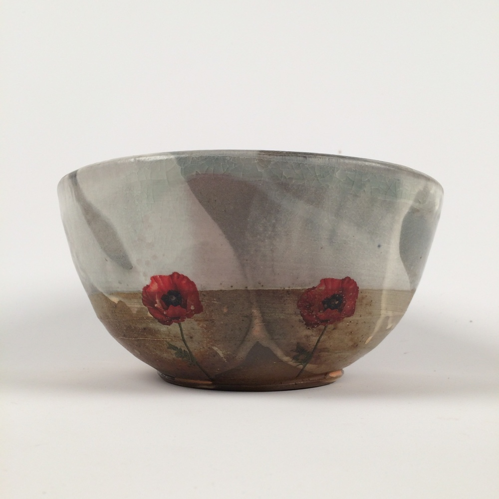 "Justin Rothshank Ceramic Serving Bowl, 8"" in diameter, and 5"" tall SOLD Value: $75 Starting Bid: $65"