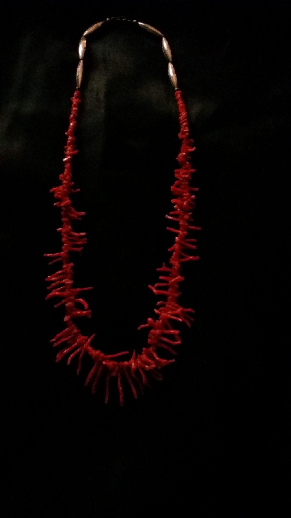 "Vintage 26"" Coral Necklace    SOLD    Value: $125    Starting Bid: $75"