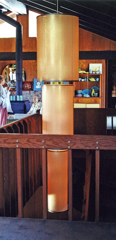 Cylinder Chain Chandelier - Residence, Clarksburg, CA