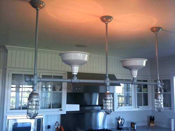 Custom Heavy Duty Linear Chandelier, Residence - Nantucket, MA