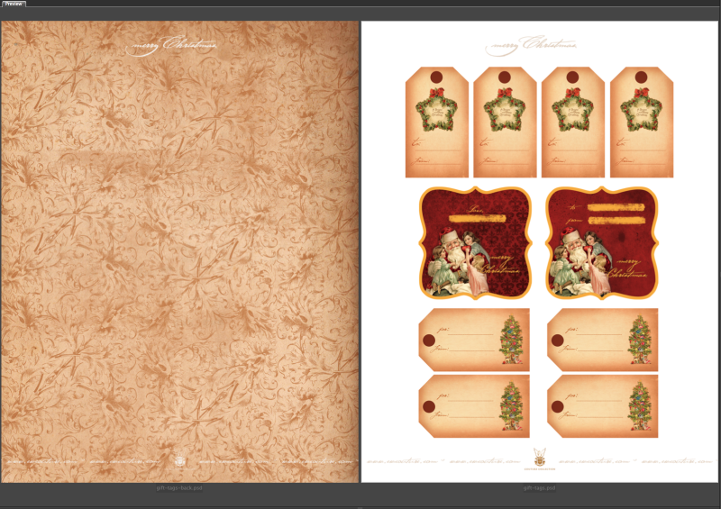 Free Printables :: Vintage Christmas Gift Tags :: double sided — EW ...