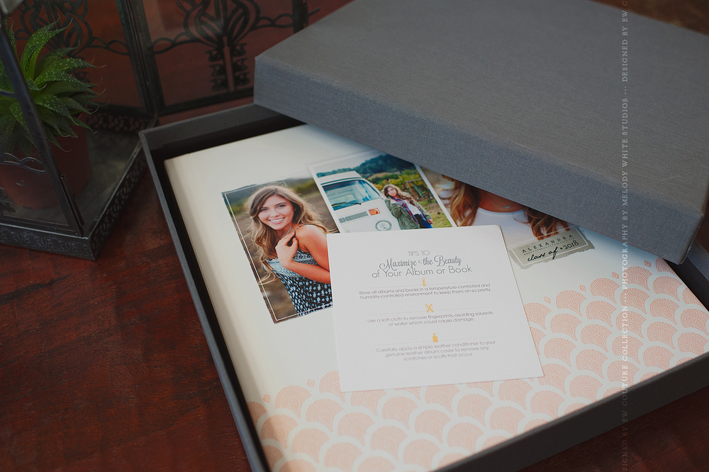 The album ships in a beautiful Graphite album box, provided at no extra cost.