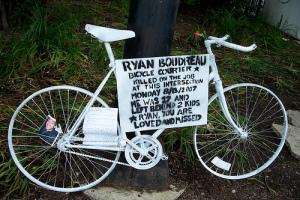 Ryan Boudreau's Ghost Bike