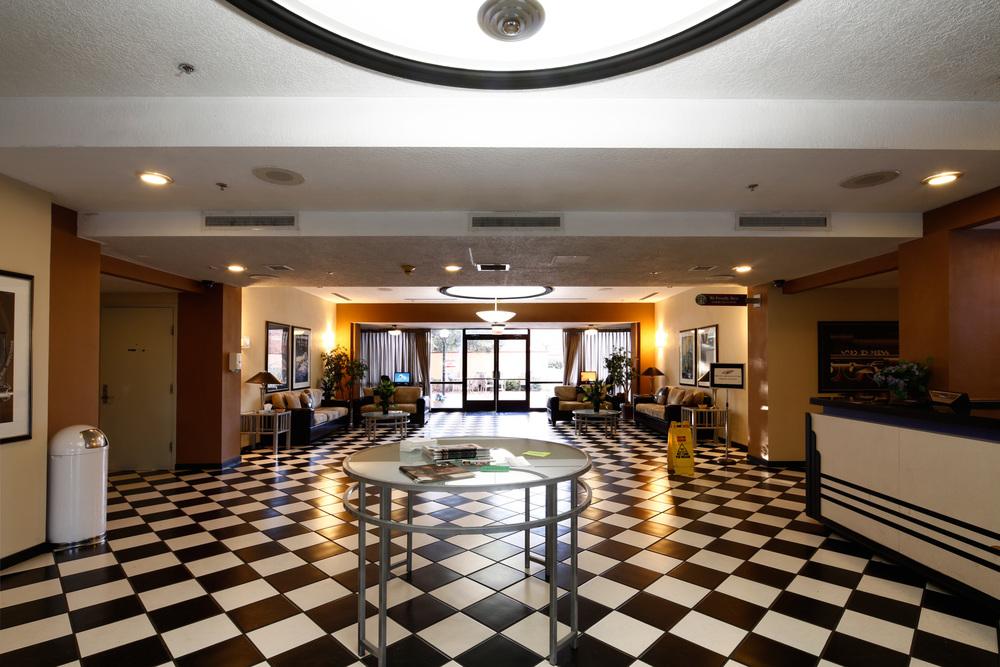The Hotel Blue lobby
