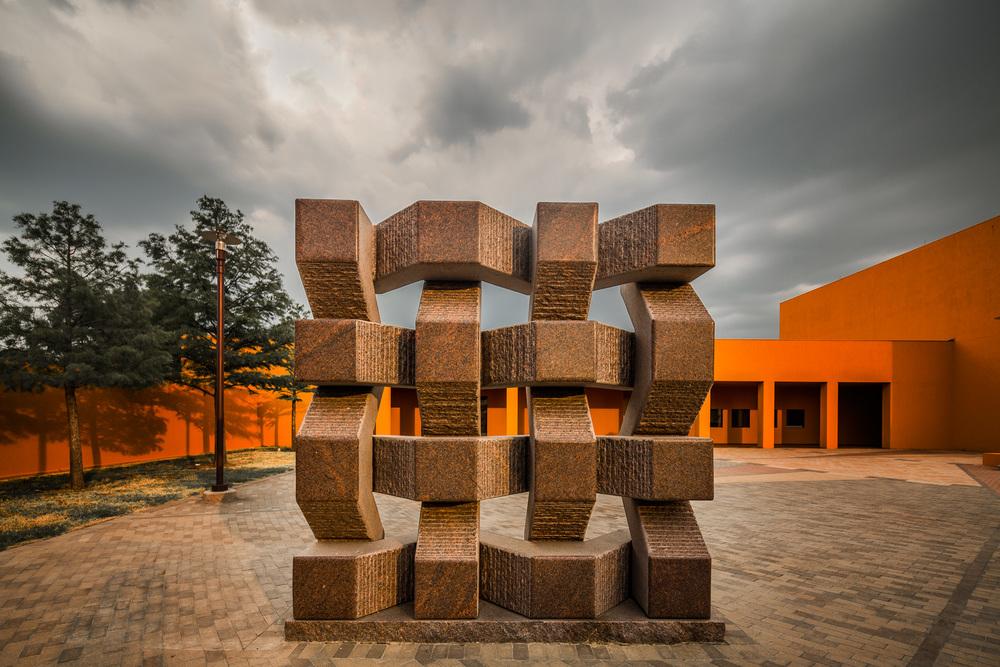 Latino Cultural Center sculpture