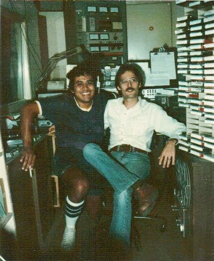 In the control room at KTFM back in the day