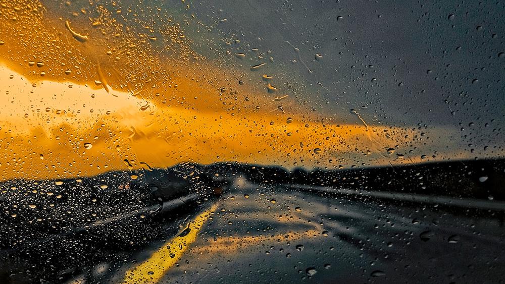 On the Road - Desert Rain