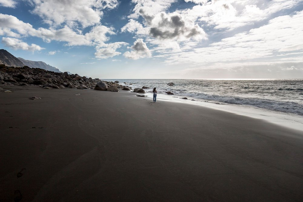 """Guayedra beach. This photo appears in the book """"Gran Canaria. Letters from the Atlantic"""""""