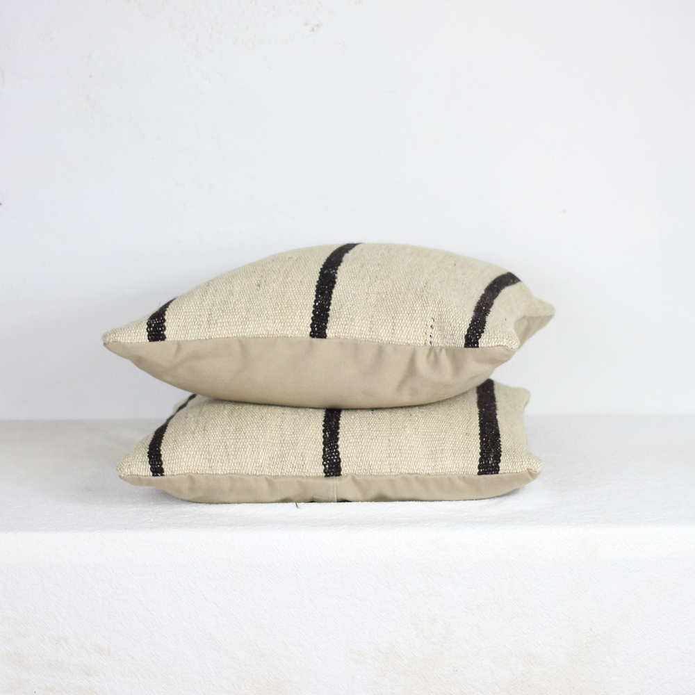 Moroccan Wool Striped Pillow | $45