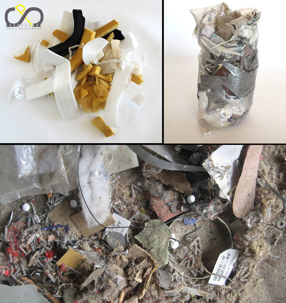 Selected collections of trash. 2009