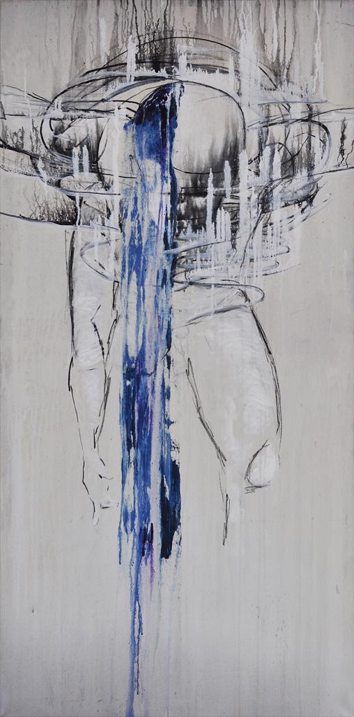 Körper in blauer Bewegung