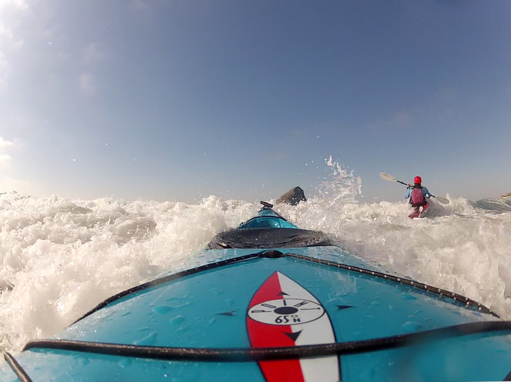 Paddling out at Pacific City