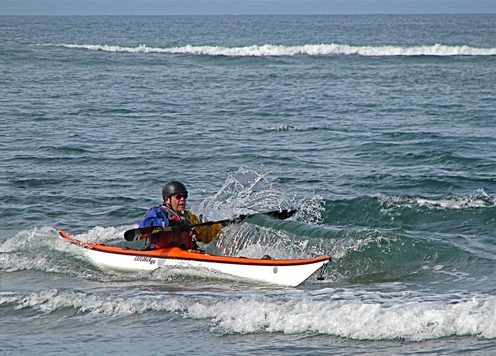 Bob rides a wave