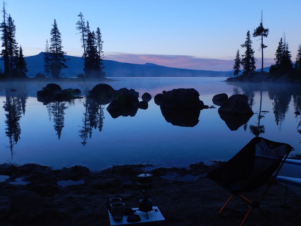 Breakfast at Waldo Lake