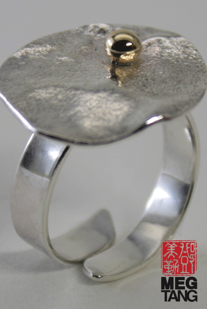 Sterling Silver, 14k gold