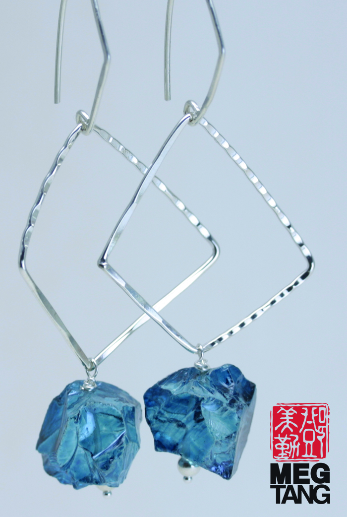 Sterling Silver, London Blue Topaz