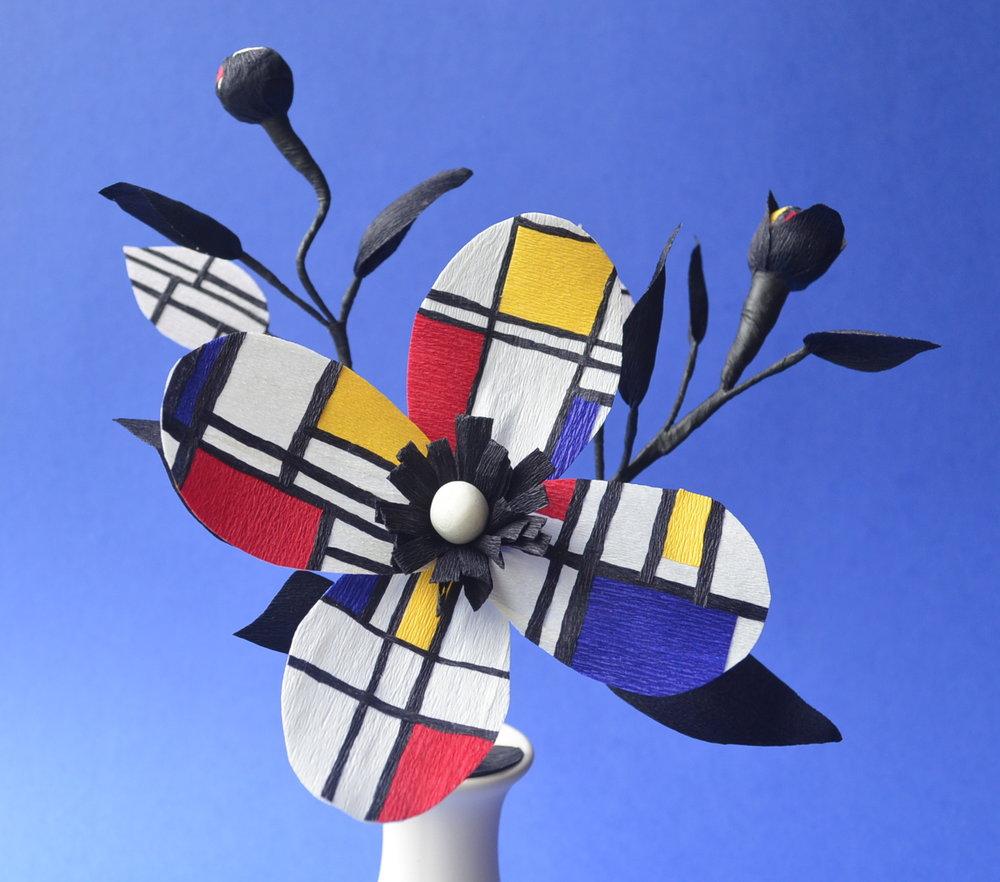 Mondrian paper arrangement
