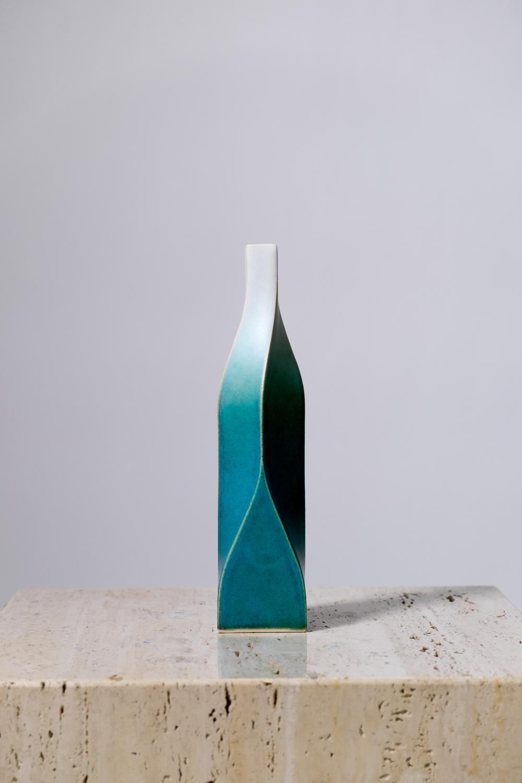 "LIGHT AND DARKNESS TYPE A  HOPEFUL  Glazed stoneware  H 11"" x W2-5/8"" x D 2-5/8"""
