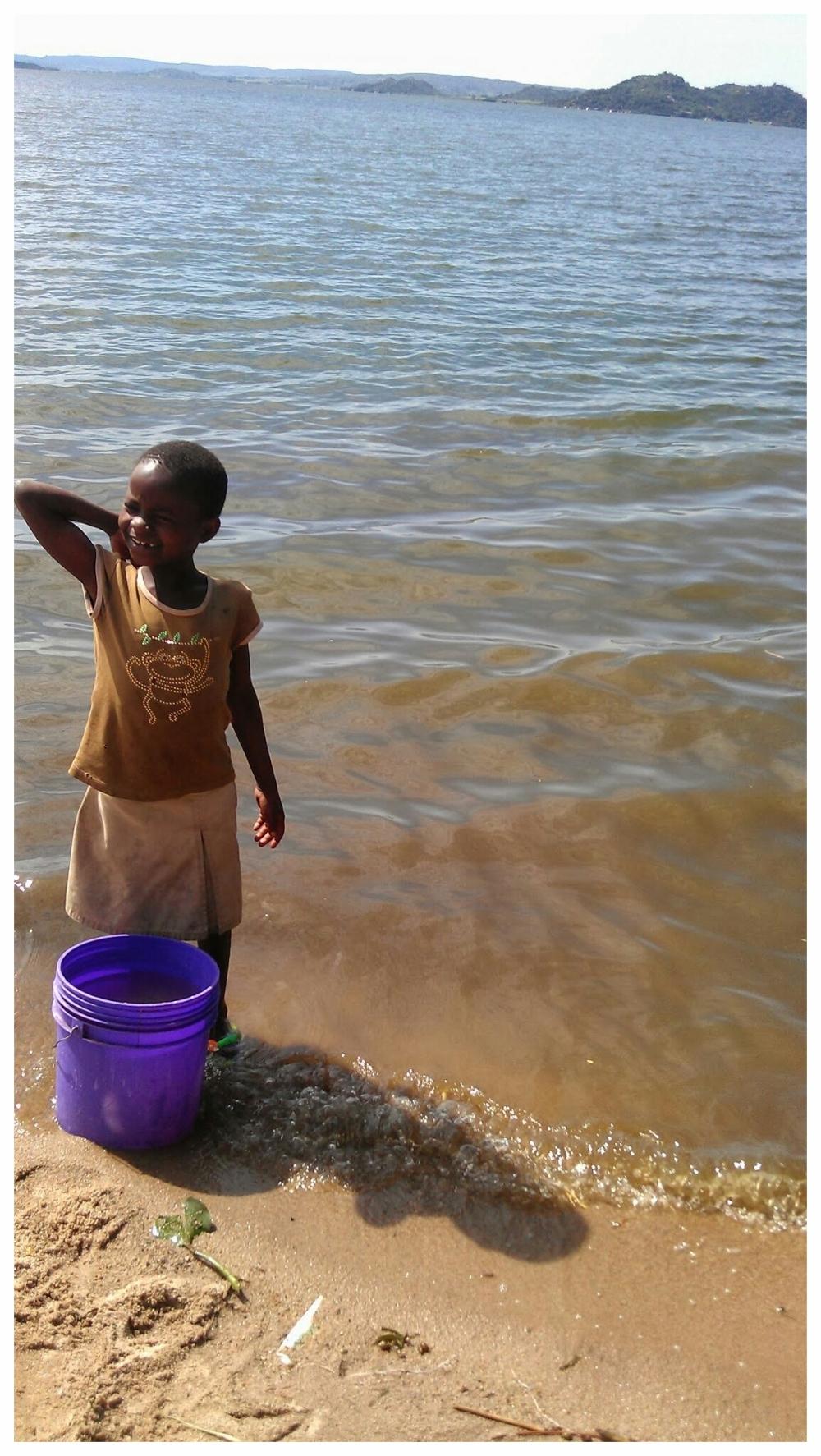 Schistosomiasis transmission site in Lake Victoria