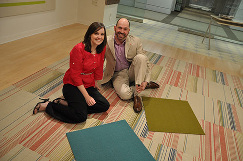 Natalie Banaszak and Tom Polucci at Mannington Commercial