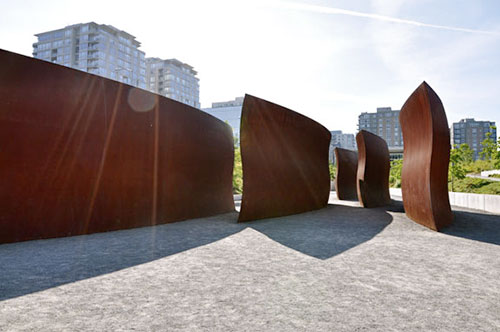 Richard Serra installation at Olympic Sculpture Park