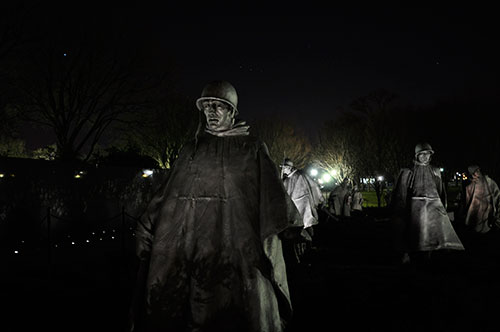Korean War Monument (wish I had a tripod with me!)