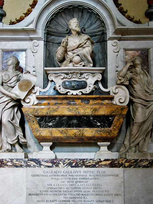 Tomb of Galileo at Santa Croce