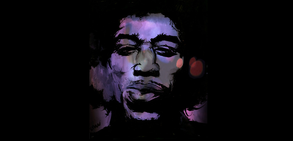 Jimmy Hendrix Illustration Portrait Art