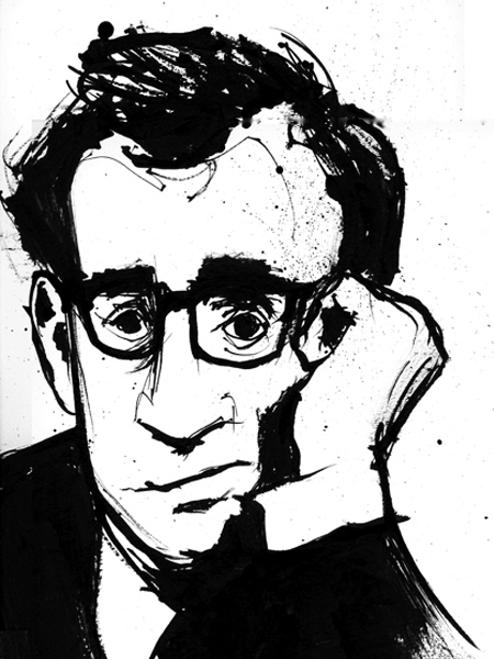 Woody Allen Illustration Portrait Art