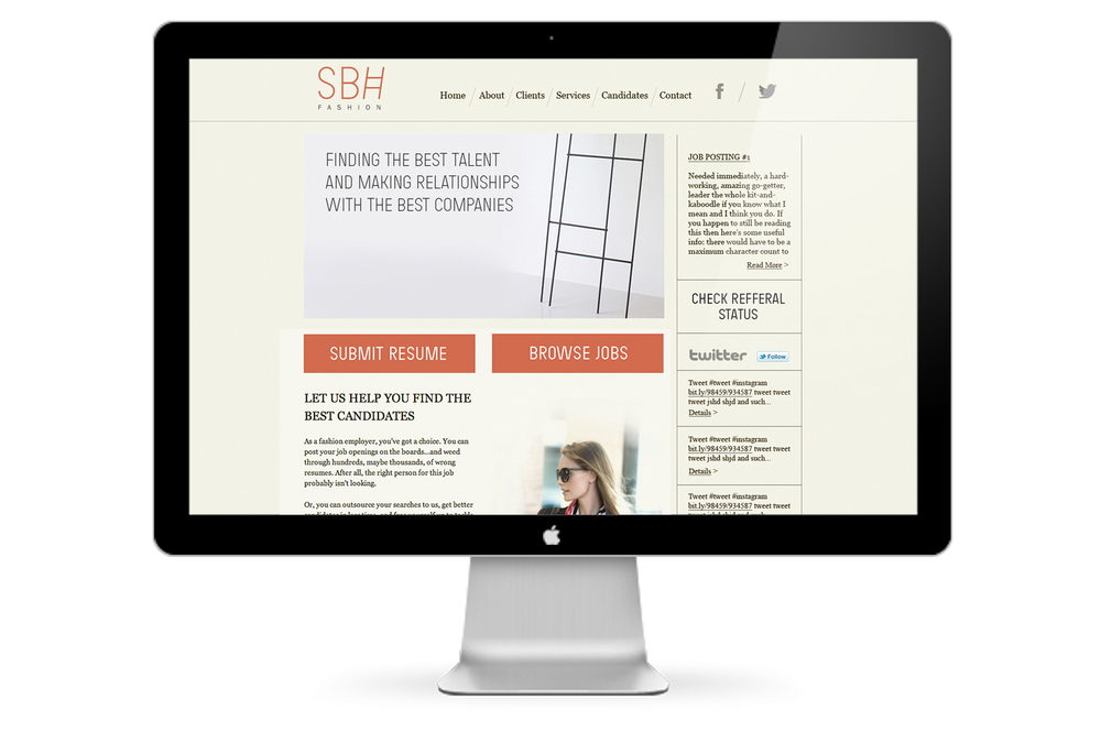SBH Fashion Retail Website Design New York City