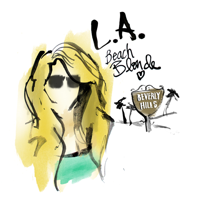Edgy LA Fashion Illustration made in Brooklyn