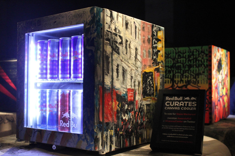 Red Bull Canvas Cooler Project, NYC, Steve Wasterval