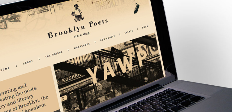 Brooklyn Poets badass website design