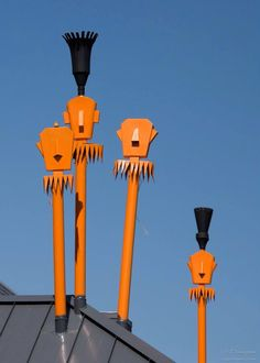 Twist Historical Tiki Torches on the Corner of Via Lola and Palm Canyon Dr
