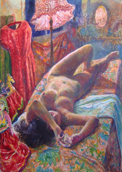 Sarah Longley_Nude At Night_60x42 oil