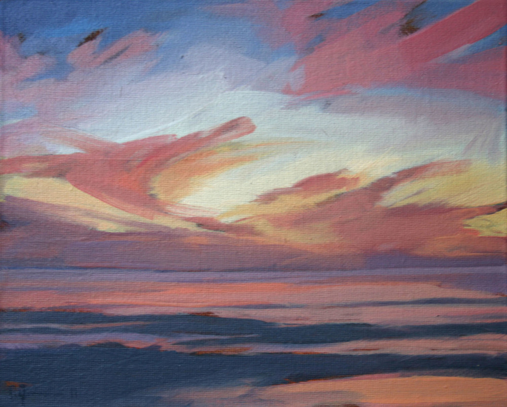 Tracey Quinn_2011_Study Pink Sunset_oil on canvas_20 x 25cm.jpg