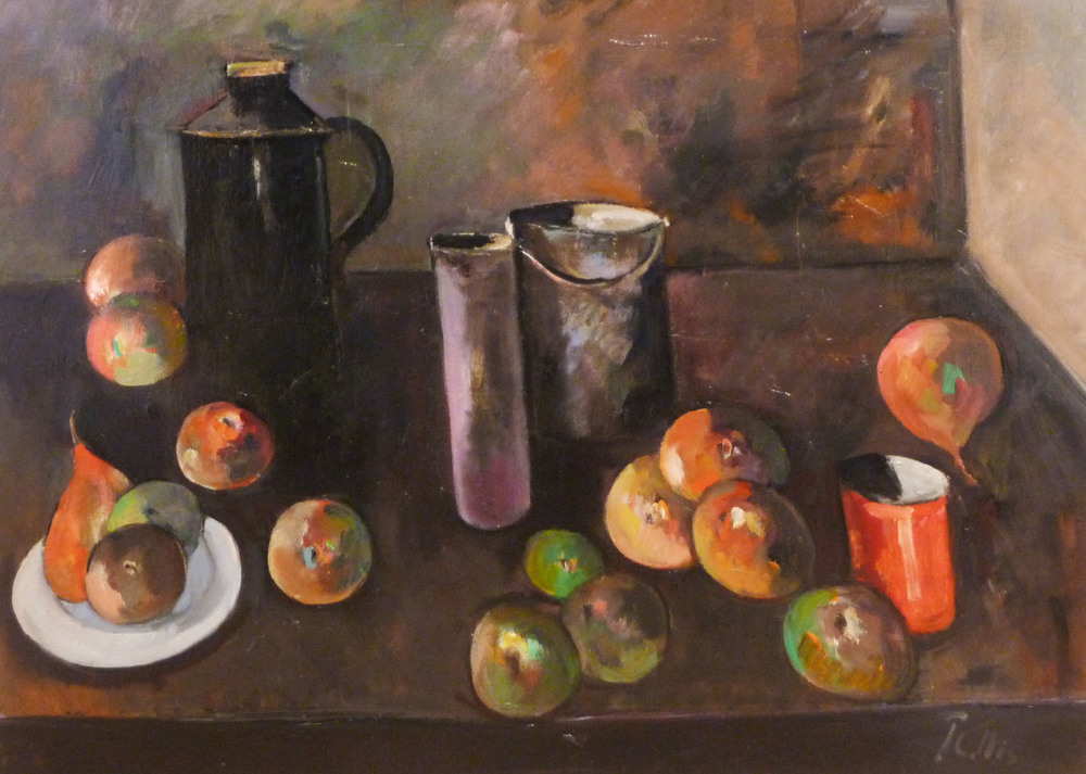 Peter Collis_-_Still Life with Black Flask_55 x 75cm.jpg