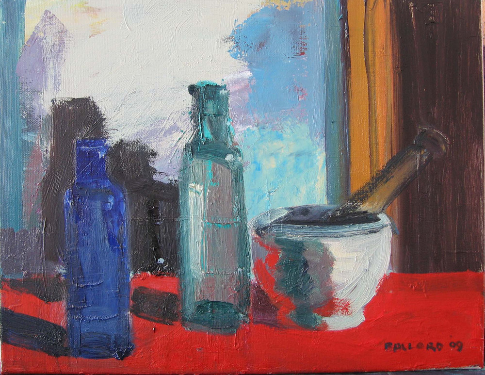 Brian Ballard_-_Two Bottles on Red_36 x 46cm.jpg