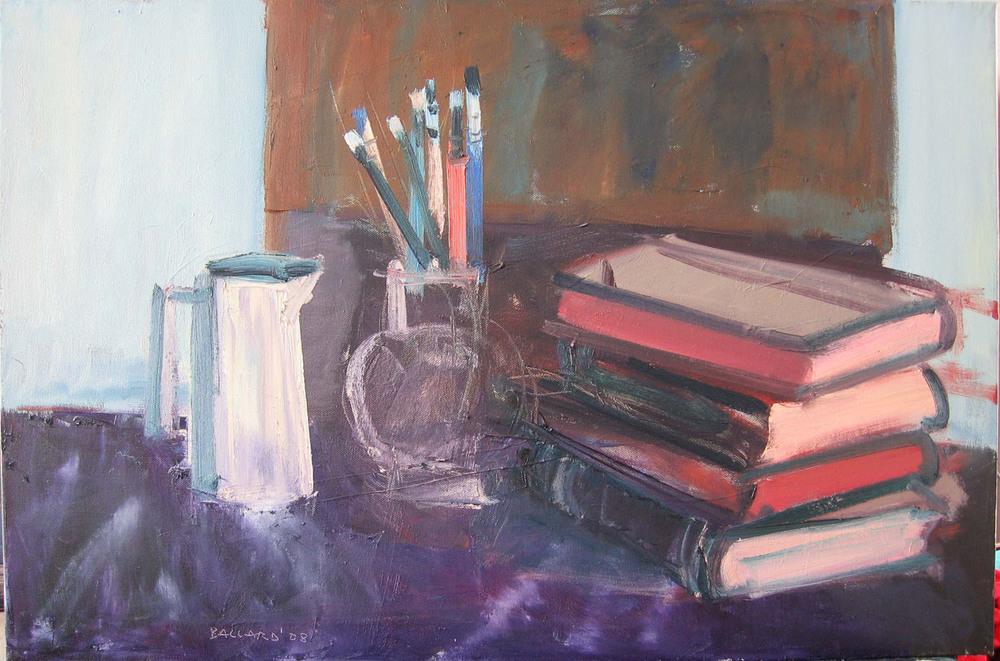 Brian Ballard_-_Books with Brushes_51 x 76cm.jpg