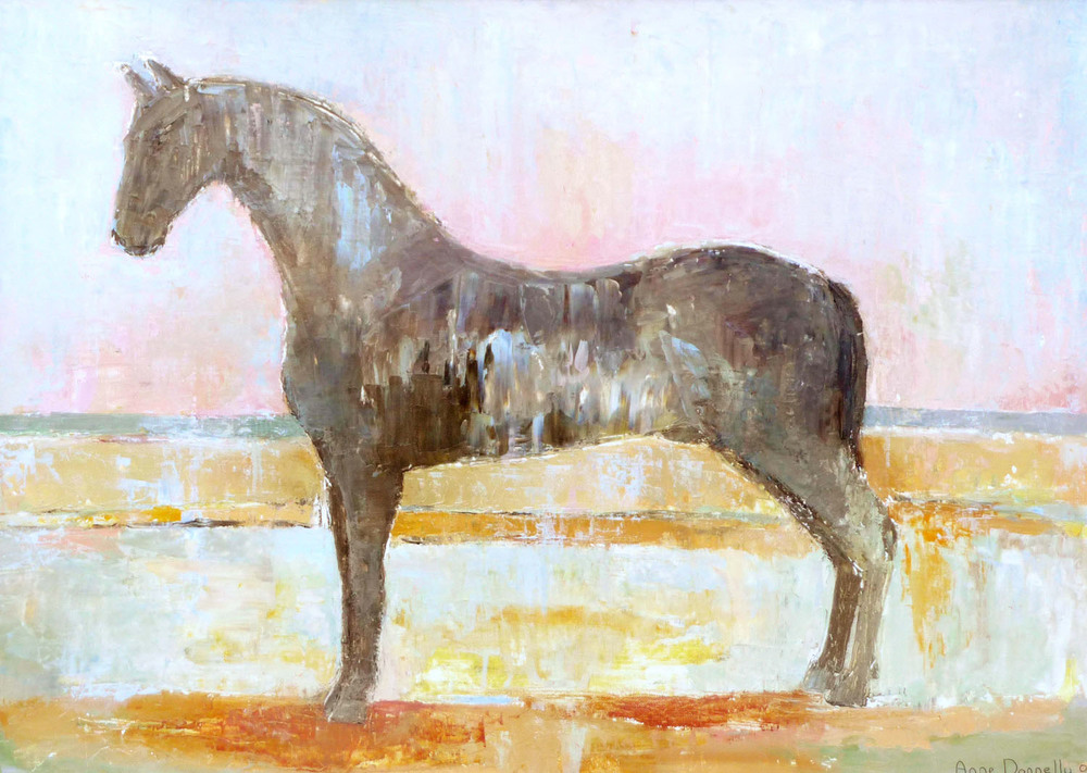 Anne Donnelly_-_Black Horse at Dawn_oil on canvas_50 x 70cm.jpg