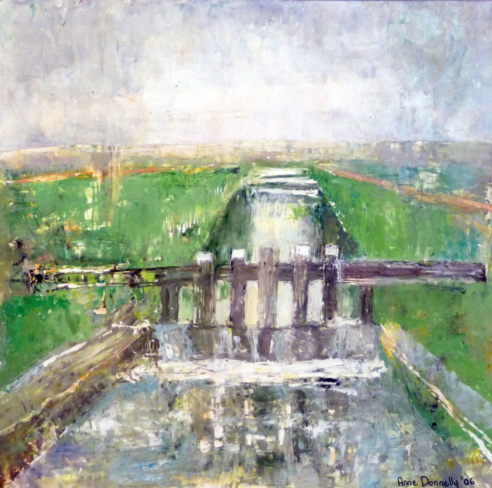 Anne Donnelly_-_Canal Locks in Winter_oil on board_35 x 35.5cm.jpg