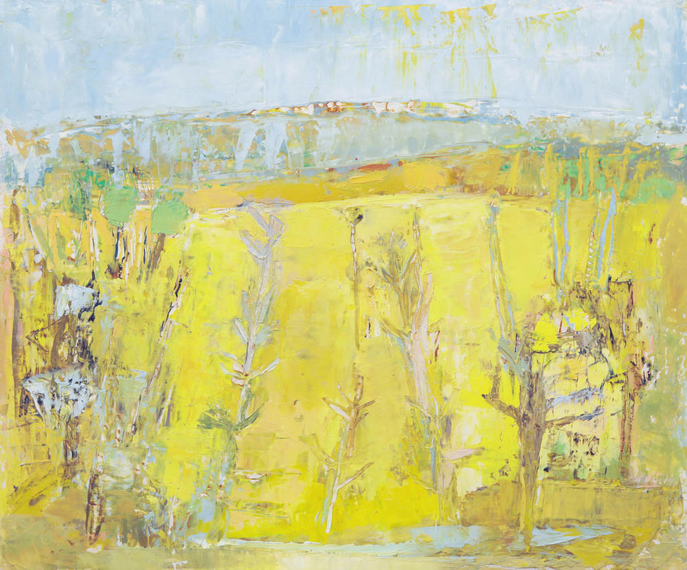 Anne Donnelly_2003_Yellow Field_oil on paper_29cm x 35cm.jpg