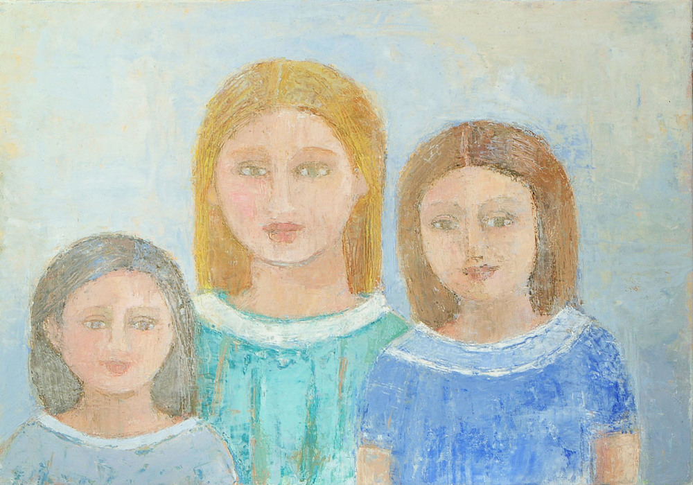 Anne Donnelly_2008_The Sisters_oil on canvas_35 x 50cm.jpg