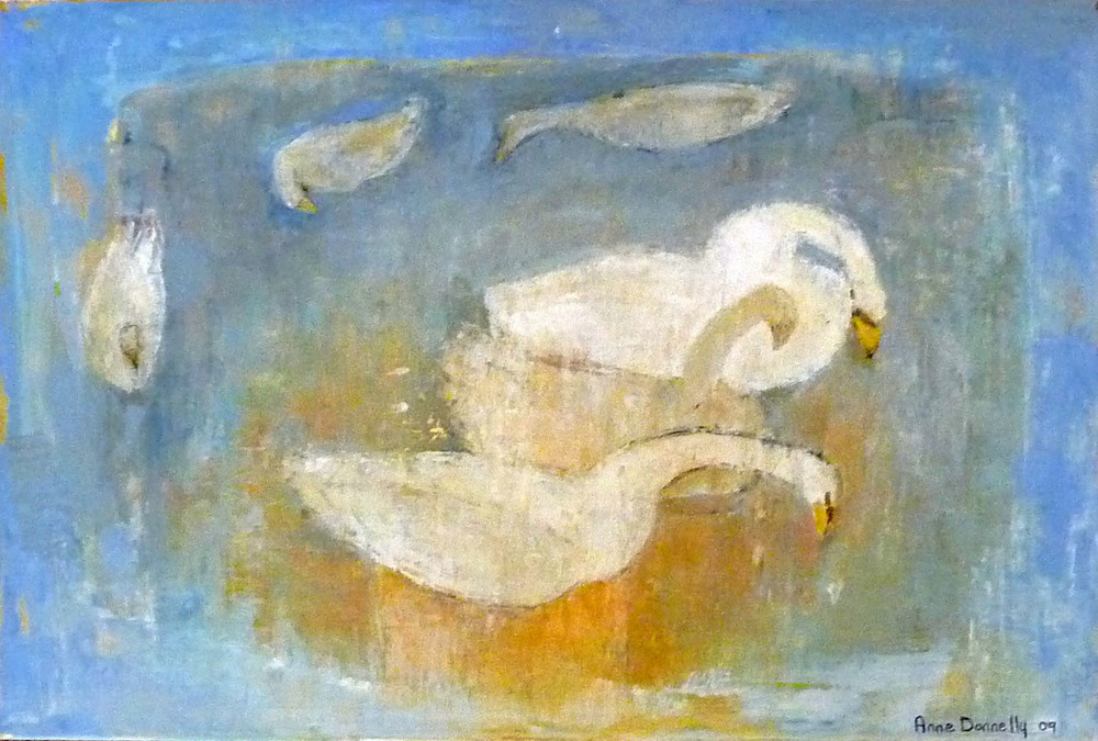 Anne Donnelly_-_Swans on Still Water_oil on canvas_40 x 60cm.jpg